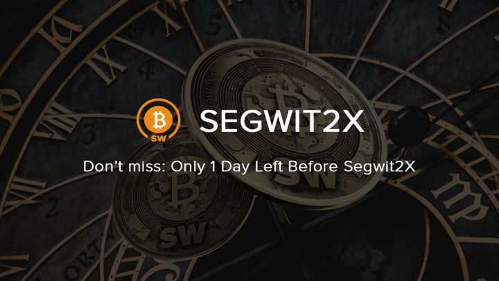 1 day left until bitcoin segwit2x hard fork ccuart Images