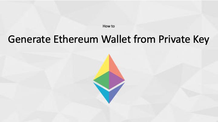 Understanding Private Key, Public Key & Address in Ethereum