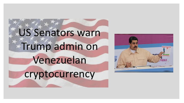 US Senators warn Trump admin on Venezuelan cryptocurrency