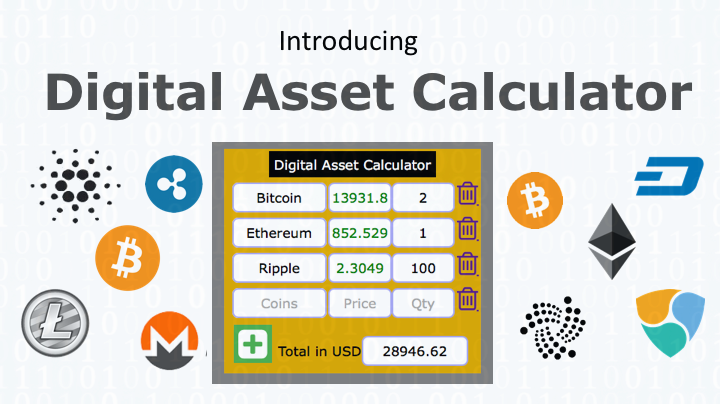 Introducing Digital Asset Calculator