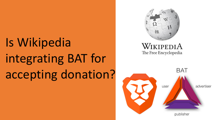 Is Wikipedia integrating BAT for accepting donation?