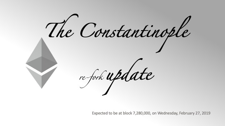The Constantinople re-fork update
