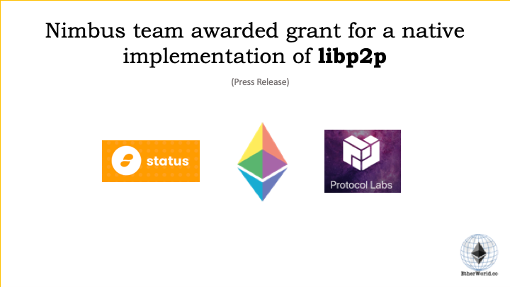 Nimbus team awarded grant for a native implementation of libp2p