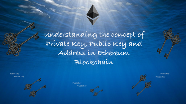 Understanding the concept of Private Key, Public Key and Address in Ethereum Blockchain