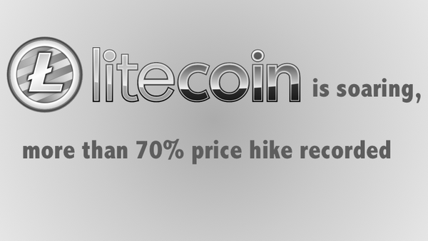 Litecoin is soaring, more than 70% price hike recorded