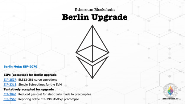 Ethereum Blockchain - Berlin Upgrade