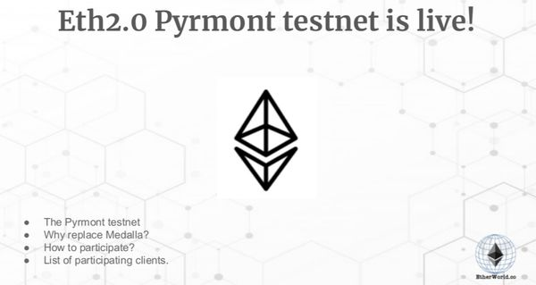 Eth2.0 Pyrmont testnet is live!