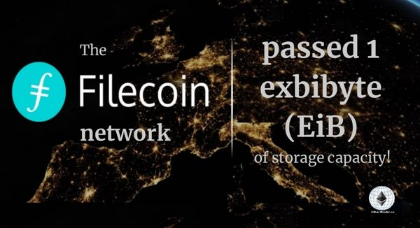 Filecoin passed 1 EiB of storage capacity