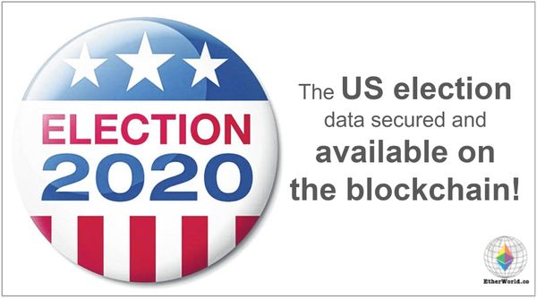 The US election data secured and available on the blockchain-powered by Chainlink!